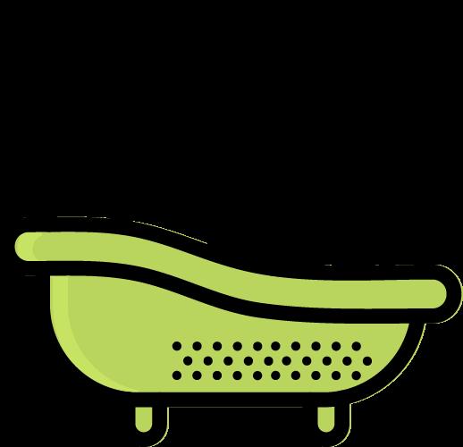 dog bathing icon