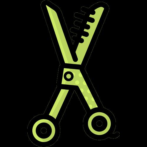dog scissors icon
